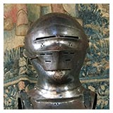 Cromwellian leather helmets - Penshurst Place