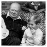 Winston Churchill with his grandchildren at Chartwell